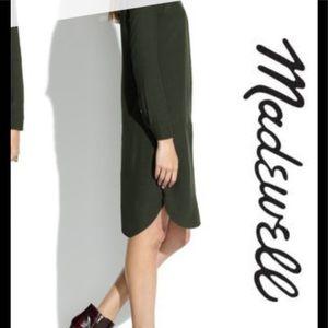 Madewell Army Green shirt Dress